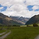 New Zealand Valley Panorama by Will Hore-Lacy