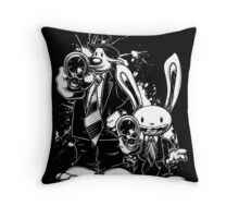 Sam & Max X Pulp Fiction (white) Throw Pillow