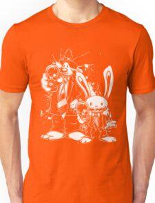 Sam & Max X Pulp Fiction (white) Unisex T-Shirt