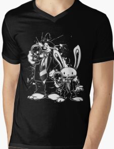 Sam & Max X Pulp Fiction (white) Mens V-Neck T-Shirt