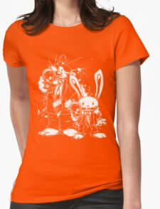 Sam & Max X Pulp Fiction (white) Womens Fitted T-Shirt