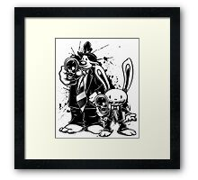 Sam & Max X Pulp Fiction (black) Framed Print