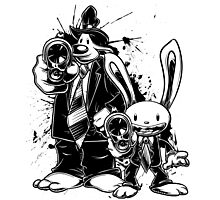 Sam & Max X Pulp Fiction (black) Photographic Print
