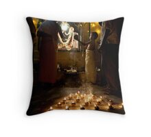 the little priest Throw Pillow