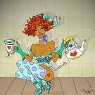 Polly put the kettle on... by Patricia Anne McCarty-Tamayo