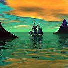 Sunrise at Sea by Sandra Bauser Digital Art