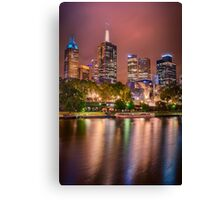 Melbourne Glow -  vertical Canvas Print
