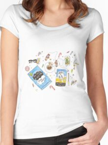 Messy desk Women's Fitted Scoop T-Shirt