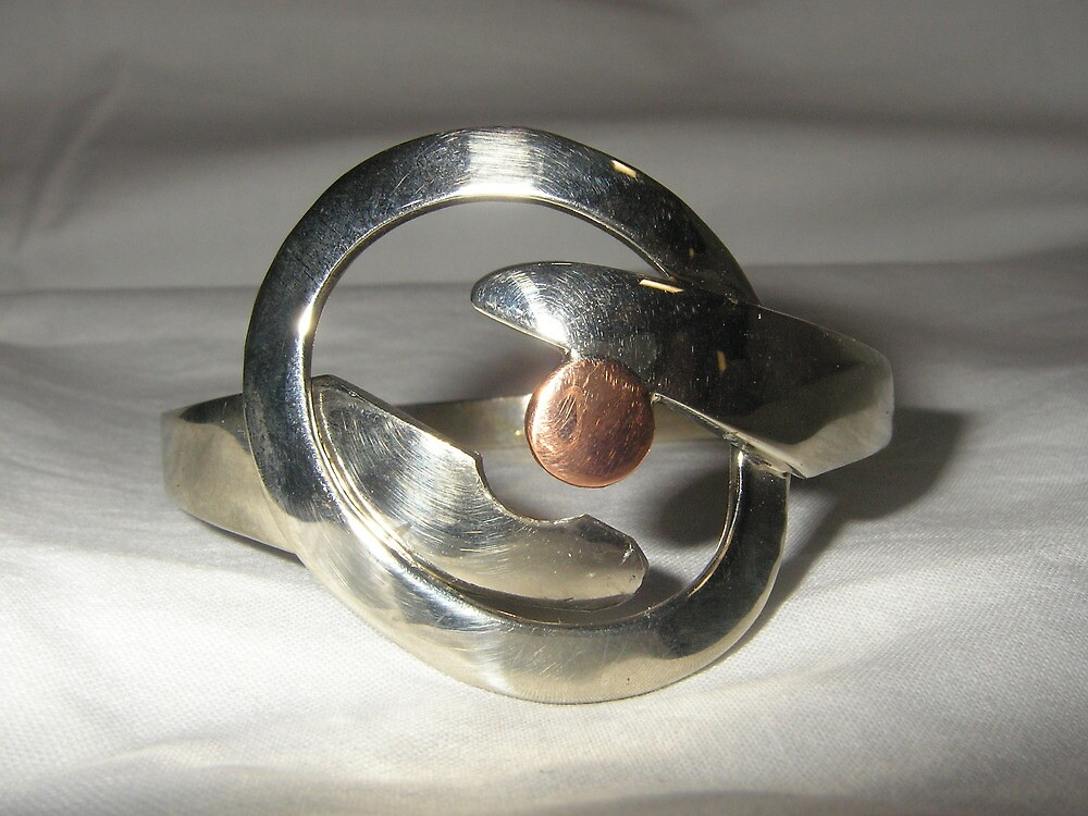 Bangle from recycled materials by Brian Cox
