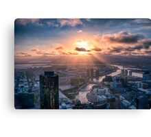 Sunset Beams Canvas Print