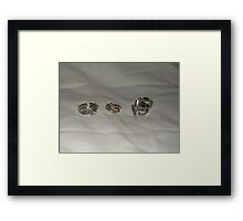 Rings from recycled materials Framed Print