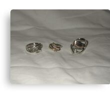 Rings from recycled materials Canvas Print