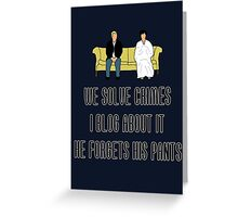 We Solve Crimes Greeting Card