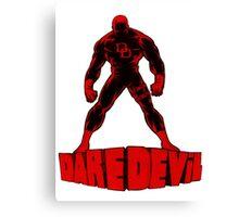 Daredevil letters Canvas Print