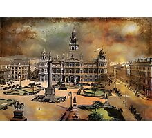 George Square -Glasgow 1900 y Photographic Print