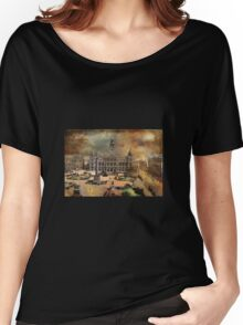George Square -Glasgow 1900 y Women's Relaxed Fit T-Shirt