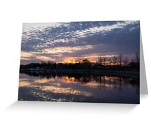 Violet Twilight on the Lake Greeting Card