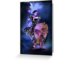 Flamenco in the moonlight Greeting Card