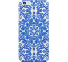 Cobalt Blue & China White Folk Art Pattern iPhone Case/Skin