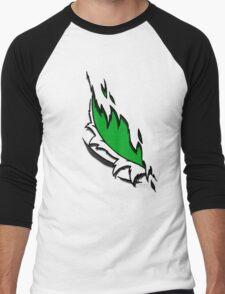 Torn Green Men's Baseball ¾ T-Shirt