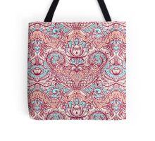Natural Rhythm - a hand drawn pattern in peach, mint & aqua Tote Bag