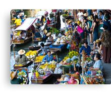 Floating Market, Thailand Canvas Print