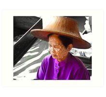 Thai Market Trader Art Print