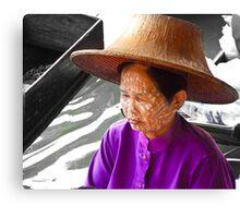 Thai Market Trader Canvas Print