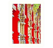 Red Temple Wall Art Print