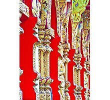 Red Temple Wall Photographic Print