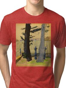From Darling Point Twds Point Piper on an Overcast Day Tri-blend T-Shirt