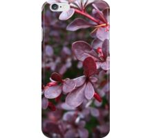 deep red bush iPhone Case/Skin