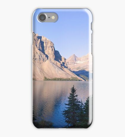 Crow Mountain, Crow Glacier and Bow Lake Panorama iPhone Case/Skin