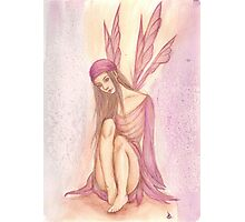 'Shy Faery' Fantasy Artwork Photographic Print