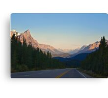 The Most Scenic Road of the World - Icefields Parkway - Alberta Highway 93 north Canvas Print