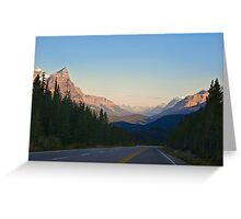 The Most Scenic Road of the World - Icefields Parkway - Alberta Highway 93 north Greeting Card