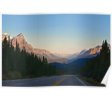 The Most Scenic Road of the World - Icefields Parkway - Alberta Highway 93 north Poster