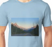 The Most Scenic Road of the World - Icefields Parkway - Alberta Highway 93 north Unisex T-Shirt