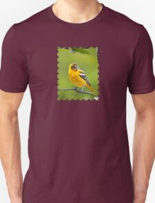 Baltimore Oriole Bird and Blooms  Unisex T-Shirt
