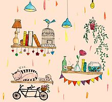 Books'n'bikes by ElyaPingster