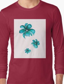 WatercolorFlowersPattern Long Sleeve T-Shirt