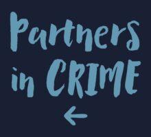 Partners in crime arrow left blue One Piece - Long Sleeve
