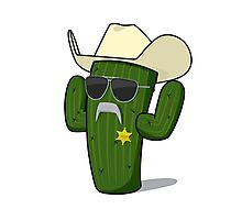 Cactus Sheriff Photographic Print