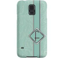 1920s Blue Deco Swing with Monogram letter F Samsung Galaxy Case/Skin