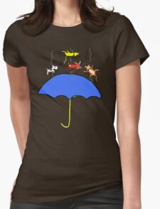 Raining Cats and DOGS (blue) T SHIRT/STICKER Womens Fitted T-Shirt