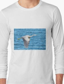 White Faced Heron Long Sleeve T-Shirt