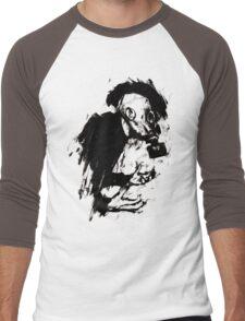 The Lonely Hunter (Ink/Brush Version) Men's Baseball ¾ T-Shirt