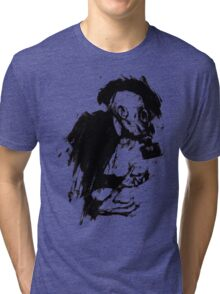 The Lonely Hunter (Ink/Brush Version) Tri-blend T-Shirt