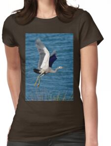 White Faced Heron Womens Fitted T-Shirt