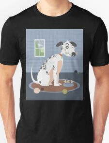 Dog with a bone in his mouth Unisex T-Shirt